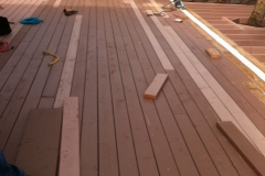 Deck C 2 framing painted for protection