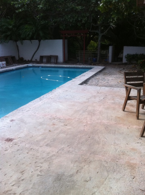 Pool Deck Travertine - Hawaii Kai 1