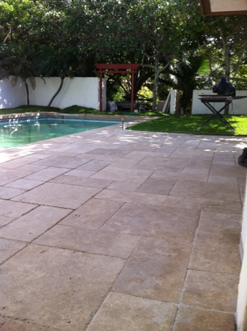 Pool Deck Travertine - Hawaii Kai 2